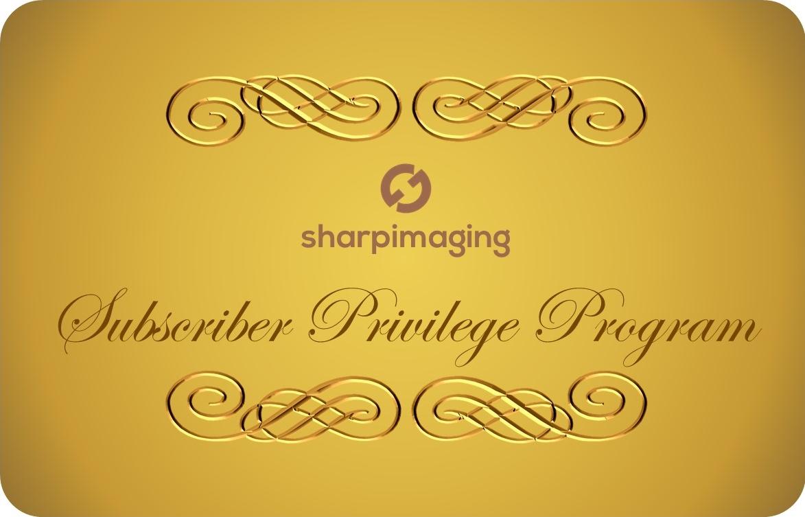 Subscriber Privilege Program by Sharp Imaging